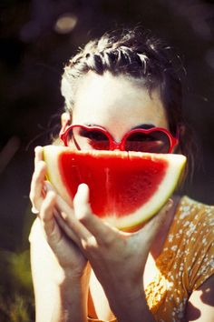 watermelon and heart shaped sunnies.