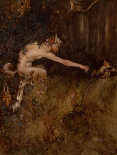 """antipahtico: """" A Satyr Chasing two Imps ~ Gustaf Tenggren """""""