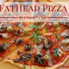 FatHead pizza. It's low carb, wheat free, gluten free and the easiest recipe you'll find. ditchthecarbs.com