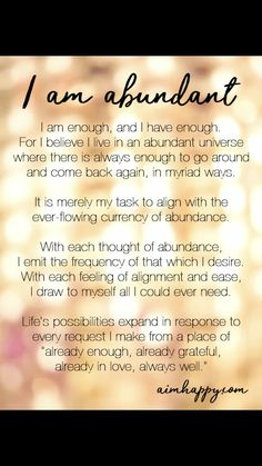 abundantly for me Positive Affirmations Quotes, Self Love Affirmations, Morning Affirmations, Law Of Attraction Affirmations, Money Affirmations, Affirmation Quotes, Positive Quotes, Healing Affirmations, Manifestation Law Of Attraction