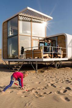 Strandhäuschen - Strandweelde: Slapen op het strand - Zeeland