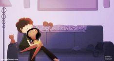 Cadeau Couple étreindre, romantique, amour-sticker - les couples « Empêtrer dans vous »