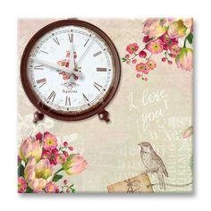 Dekorasyon  Özel Tasarım Saatler,   APOLENA,   Apolena Lalelerin Dansı Kanvas Saat ,   saat, tablo, kanvas saat, apolena saat, duvar saati, ...
