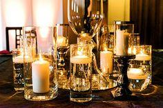 Candle centerpieces - studio loft wedding