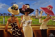 Ladies @ Keeneland  by Trish Biddle