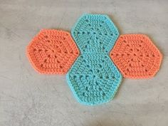 Tuto hexagone au crochet - YouTube