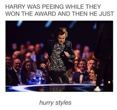 Sorry, i was just having a wee. *whispers* What did we win??