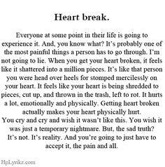 Heartbreak.                                                                                                                                                                                 More