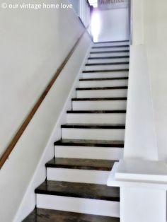 stairs, painted & stained