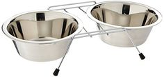 westminster pet products 19432 Qt Stainless Steel Double Diner Raised Pet Bowls -- Click on the affiliate link Amazon.com on image for additional details.