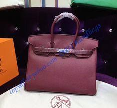 Wine Red with Palladium Hardware Luxury Handbags, Designer Handbags, Hermes Birkin, Louis Vuitton Handbags, Dust Bag, Raincoat, Hardware, Wine, Red