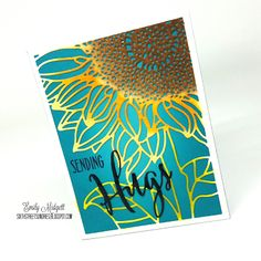 LOVE this card! Sixth Street Sundries: Lasting Hearts Card Drive Sunflower Cards, Card Making Tutorials, Ink Stamps, Heart Cards, Card Making Inspiration, Fall Cards, Pretty Cards, Watercolor Cards, Card Sketches
