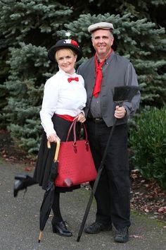 Mary Poppins & Bert  @yourhomebasedmom.com