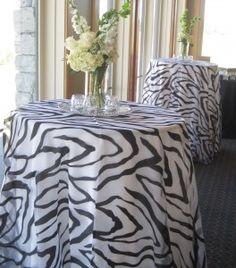 Zebra Print Sheer Overlay