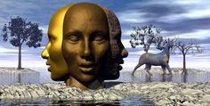 the present looking to the past and the future by giulband Bryce Surrealism
