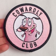 Cowardly Club patch by Friday Night Rental Club Cute Patches, Diy Patches, Pin And Patches, Iron On Patches, Jacket Patches, Cheap Patches, Embroidery Patches, Hand Embroidery, Crea Design