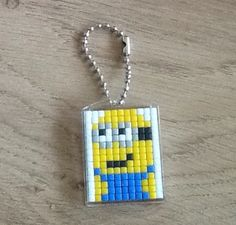 Pixelhobby sleutelhanger minion