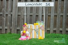Stylized FIrst Birthday Session Lemonade Stand Photo Shoot Chicago and Chicago Suburbs Children's Photographer-2