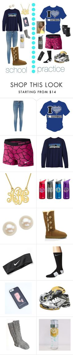 """""""from school to practice"""" by berkeleys12 ❤ liked on Polyvore featuring Burberry, NIKE, Patagonia, Honora, UGG Australia, Vineyard Vines and Mizuno"""