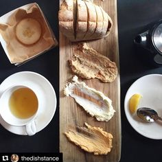 Great-looking spread!  #Repost @thedishstance with @repostapp.  Lunching at @traceatx means that you can enjoy this board of warm @easytigeratx bread and house made whipped butter schmears (with a side of cheese please)!!! I was smitten with the chipotle lime and sweet cream butters but you BBQ lovers out there can also get a brisket flavored one! #justdoit by easytigeratx