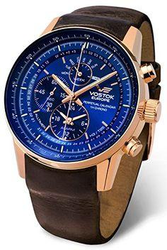 Vostok Europe GAZ-14 Limousine Quartz Men's Watch with Perpetual Calendar and Time Alarm YM86-565B289--468.9