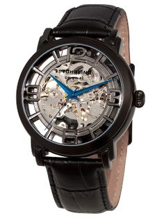 Men's Winchester Grand Black Watch from Stuhrling Watches on Gilt