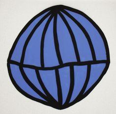 Cassie Jones | Works on Paper - Duralar 2009 I / #blue #black