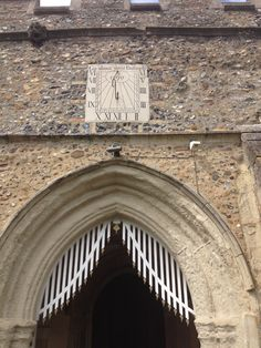 Sundial, church of SS Peter & Paul, Clare, Suffolk