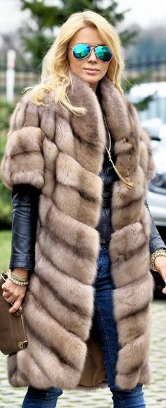 Dyed Russian Sable Fur Vest