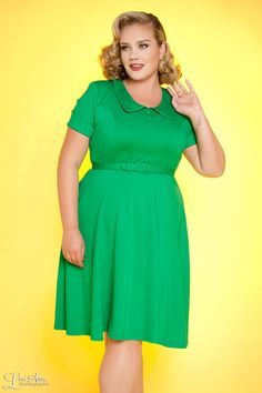 Madison Dress in Lucky Green - Plus Size