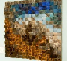 Reclaimed Wood wall Art wood mosaic geometric by ArtGlamourSligo