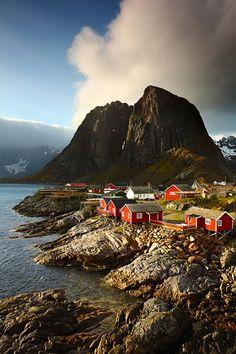 Kabelvag Village in Lofoten Island Archipelago, Norway.