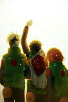 Obito, Kakashi e Rin
