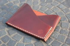 Handmade and Handcrafted in the USA. Card wallet features multiple available custom configurations. Available in Horween Chromexcel or Shell Cordovan.