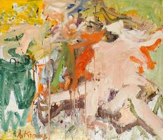 """Willem de Kooning, Two Figures in a Landscape, 1967. Oil on canvas 70 x 6' 8"""" (177.8 x 203.2 cm) Collection Stedelijk Museum, Amsterdam Photo: MoMA"""