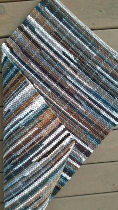 Brown Green Tan Rag Rug // Cotton Corduroy Throw Rug // Brown Green Earth Tones // Soft Cotton Rug // Farmhouse Decor // Handmade Loom Woven by GrannysRecycledRags on Etsy Weaving Textiles, Weaving Patterns, Textile Patterns, Loom Weaving, Hand Weaving, Teal Rug, Cheap Rugs, Weaving Projects, Tear