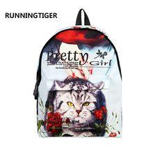 fashion children backpacks Kitty printing backpack 3d animals school bags for teenagers boys men dinosaur bagpack travel mochila