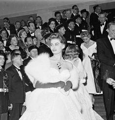 Sophia Loren en 1955 au Festival de Cannes