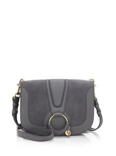 See By Chloé Hana Large Leather & Suede Crossbody