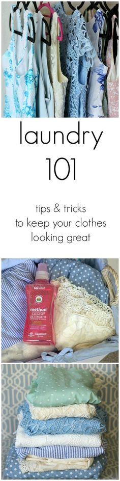 Laundry 101: Tips and tricks to keep your clothes looking great! | by @ashleynicholas at ashleybrookenicholas.com