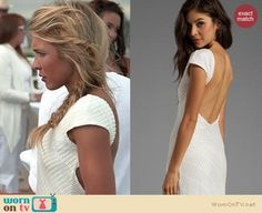 Katie's white backless dress at the white party on The Vineyard Fashion Tv, Fashion Outfits, Lovers And Friends, Hey Girl, Vanity Fair, Passion For Fashion, Spring Outfits, Vineyard, Backless