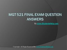 Make your dream to Ace your exams a reality. Experience the easiest way to handle exam pressure with the good tutorial like us. StudenteHelp.com provide LDR 531 Final Exam Latest University of Phoenix Final Exam Study Guide and Entire Course question with answers LAW, Finance, Economics and Accounting Homework Help, UOP course Individual Assignment, UOP Course Tutorial, Final Exam Study Guides, individual assessment etc. visit us to learn more!