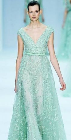 Elie Saab- Mint wedding dress