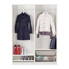 PAX Wardrobe, white, Hasvik white 150x44x201 cm -