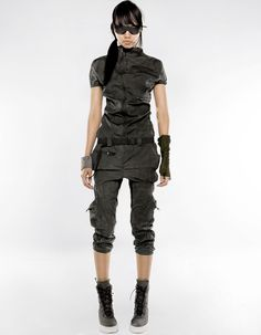 OVERALL FOLD 3 LIMITED EDITION detailed woman long overall with pockets, closing by zipper, zipped pockets / DEMOBAZA