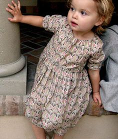 pretty dress with funky pattern for little girls