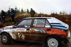 Juha Kankkunen at the stage start, 1991 Lombard RAC rally Grizedale Forset