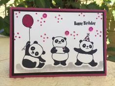 Party Pandas – Shannon Kissane, Berry Burst, Stampin' Up, Sale-a-bration 2018