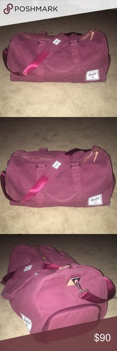 Herschel Weekender Bag Like new ! Perfect for a weekend getaway/trip. Weekender Bag/Duffle Bag made by Herschel. Cute burgundy color. Side compartment to hold shoes/sneakers/laundry/etc. Also has an adjustable shoulder strap. Herschel is great sturdy quality ! Herschel Supply Company Bags Travel Bags