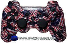 Liberty American Flag Dualshock 3 PS3 Controller - KwikBoy Modz  #american #americanflag #liberty #customcontroller #ps3 #ps3controller #controller #moddedcontroller #patriot #patriotic #gamer #gaming